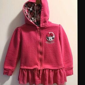 🎶3/$20 Sz4 Minnie Mouse hoodie